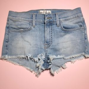 Wildfox distressed denim shorts